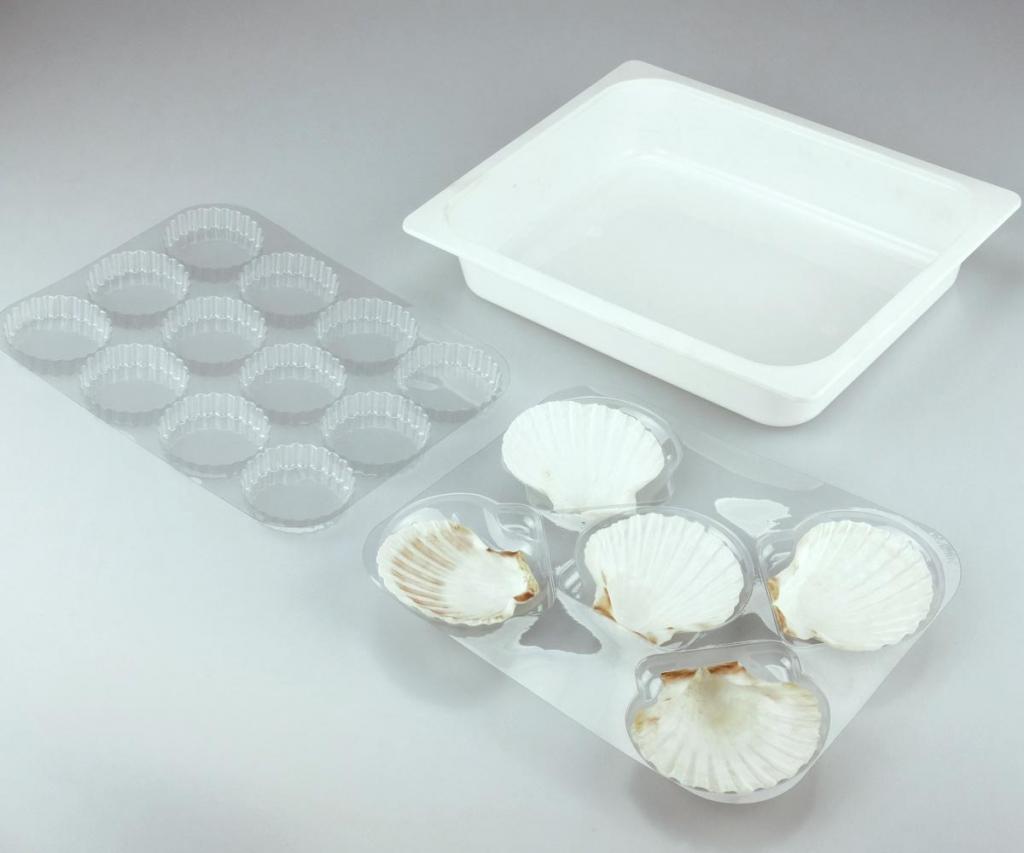 Vaschette termoformati per alimenti